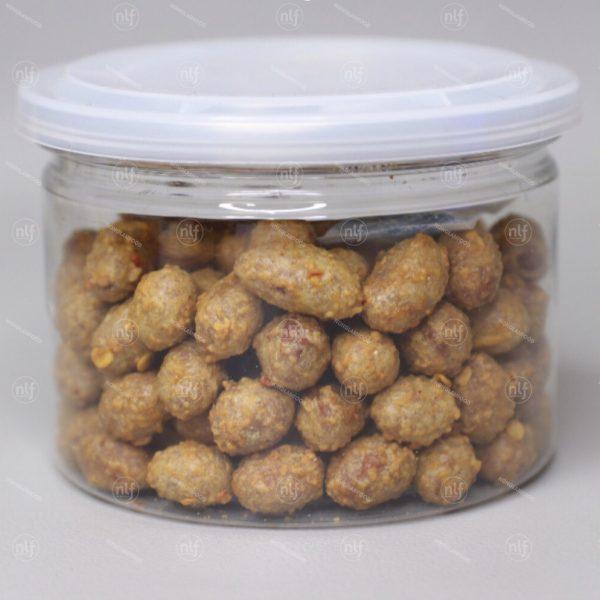 peanuts coated with chili garlic
